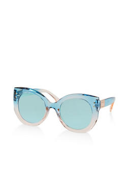 Mirrored Ombre Cat Eye Sunglasses - 1134071214610