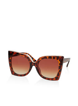 Square Metallic Detail Sunglasses - 1134071216354