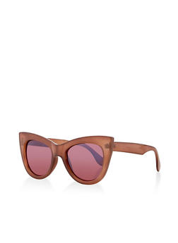Thick Frame Cat Eye Plastic Sunglasses - 1134071222852
