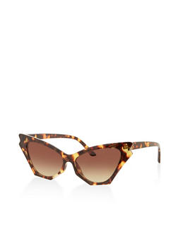 Colored Lens Cat Eye Sunglasses - 1134071222864