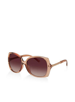 Square Metallic Arm Detail Sunglasses - 1134073211111