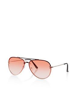 Rimless Top Bar Sunglasses - 1134073211200