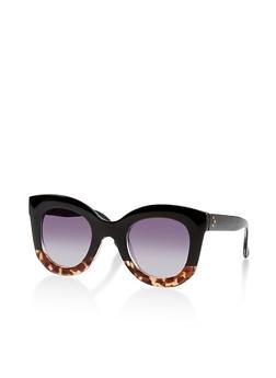 Thick Frame Circular Sunglasses - 1134073212300