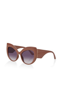 Exaggerated Cat Eye Sunglasses - 1134073213400