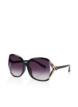 Flower Cut Out Sunglasses - 1134073213434