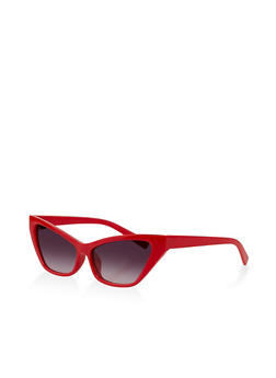Skinny Plastic Cat Eye Sunglasses - 1134073214200