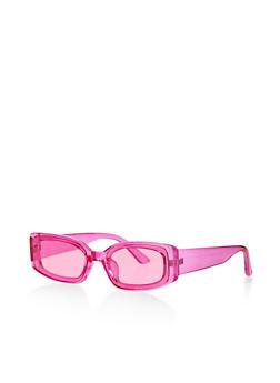 Skinny Plastic Frame Sunglasses - 1134073214500