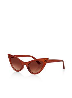 Lightening Bolt Cat Eye Sunglasses - 1134073214600