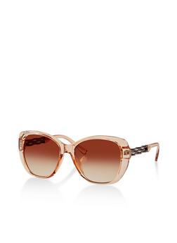 Plastic Woven Arm Sunglasses - 1134073214874