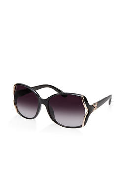 Open Metallic Side Sunglasses - 1134073215583