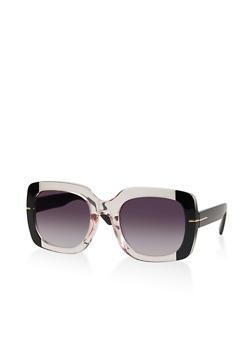 Two Tone Square Sunglasses   1134073216333 - 1134073216333