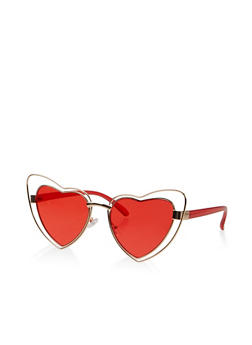 Heart Cat Eye Sunglasses - 1134073216640