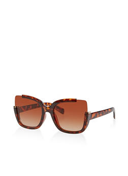 Square Rimless Corner Sunglasses - 1134073216666