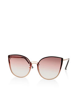 Rimless Cat Eye Sunglasses   1134073216740 - 1134073216740