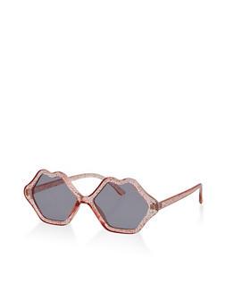 Glitter Lip Frame Sunglasses - 1134073216741