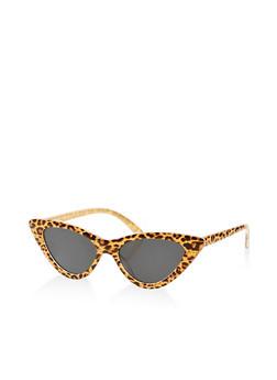 Skinny Leopard Print Sunglasses - 1134073216854