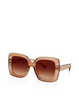 Studded Side Square Sunglasses - 1134073924484