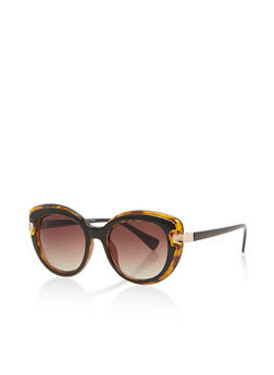 Two Tone Cat Eye Sunglasses - 1134073925484