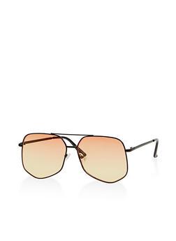 Geometric Colored Aviator Sunglasses - 1134073927597