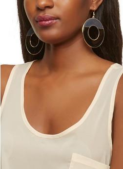 Enamel Disc Earrings - 1135003201240