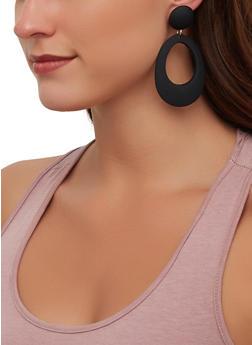 Plastic Open Oval Drop Earrings - 1135003201305