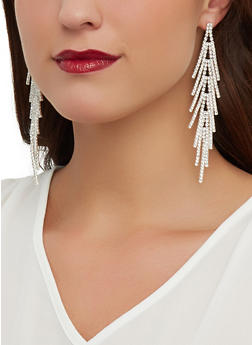 Rhinestone Stick Chandelier Earrings - 1135029360793