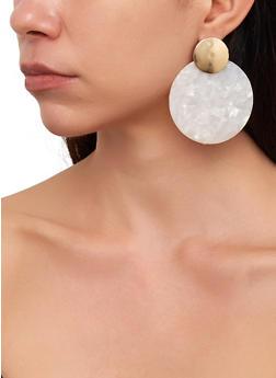 Marbled Disc Drop Earrings - 1135029361111