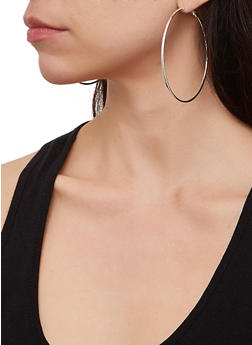 Set of 11 Assorted Size Hoop Earrings - 1135029361112