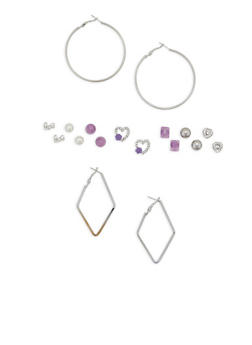 Set of 9 Assorted Earrings - 1135035154313
