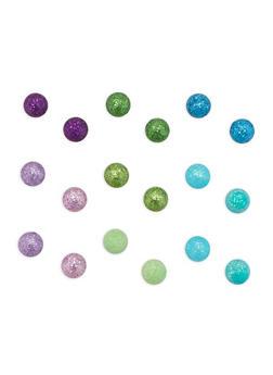 Glitter Stud Earrings Set - 1135044093413