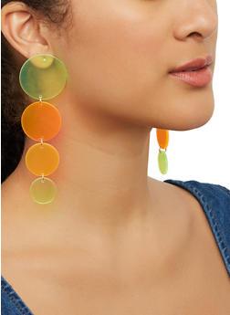 Neon Disc Drop Earrings - 1135057695414