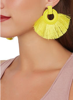 Fringe Statement Earrings - 1135062810186