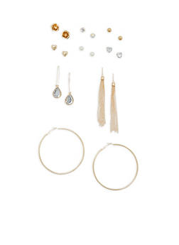 Set of 9 Assorted Earrings - 1135062810548