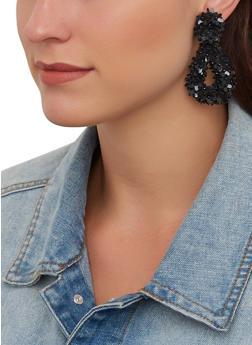 Flower Sequin Earrings - 1135062813836