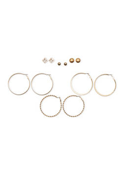 Set of 6 Assorted Earring Set - 1135062816217