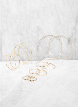Set of 6 Ascending Size Hoop Earrings - 1135062920096