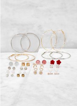 Assorted Arrow Stud and Hoop Earrings Set - 1135062921083
