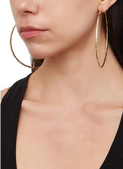 Set of 9 Assorted Tube Hoop Earrings - 1135062923216