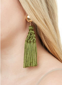 Woven Tassel Earrings - 1135062924127