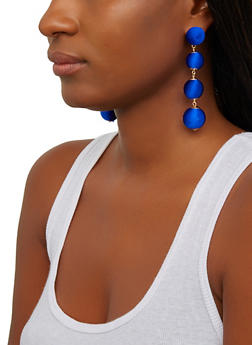 Thread Wrapped Ball Earrings - 1135062924289
