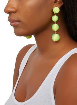 Thread Wrapped Ball Earrings - 1135062924289