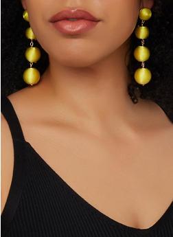 Linear Thread Wrapped Drop Earrings - 1135062924298