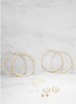 Set of 6 Assorted Earrings - 1135062924713