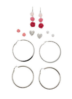 Set of 6 Assorted Earrings - 1135062924729