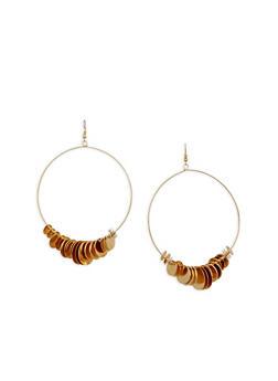 Large Metal Disc Hoop Earrings - 1135062925716