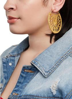 Crochet Hoop Earrings - 1135062926542