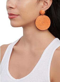 Round Rope Drop Earrings - 1135062926659