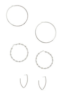 Assorted Earring Trio - 1135062927178