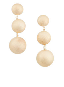 Metallic Circle Drop Earrings - 1135062927541