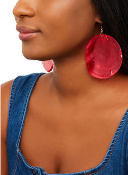 Round Shell Earrings - 1135062928025